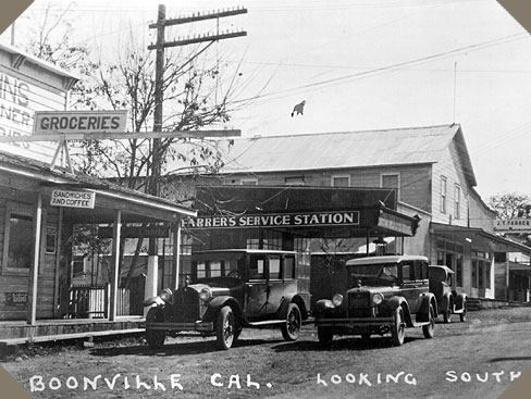 downtown boonville, many years ago
