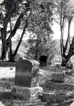 a graveyard in Anderson Valley, Mendocino County, California